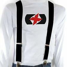 Oxford Riggers Motorcycle Trouser Pants Jeans Heavy Duty Braces - Black CA050