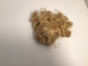 Nice Vintage Blonde Silky Mohair Doll Wig - Needs Attention
