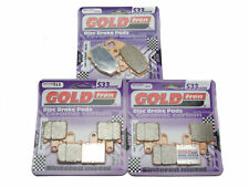 Goldfren S33 Brake Pads Front & Rear For Kawasaki ZX-6R ZX 600 P7F/P8F 2007-2008