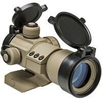NcStar Tactical 35mm Red/Green/Blue Dot Metal Tube Reflex FDE Optic Sight Tan