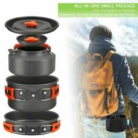 Outdoor Camping Cookware Set Marching Ultralight Travel Pan Hiking Stove Kit