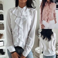 Fashion Women Ladies Long Sleeve Casual Tops T Shirt Fit Long Top Blouse NEW