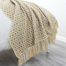 Sofa Knitted Blanket Bed Sofa Striped Travel Tv Nap Blanket Home Decor Tapestry