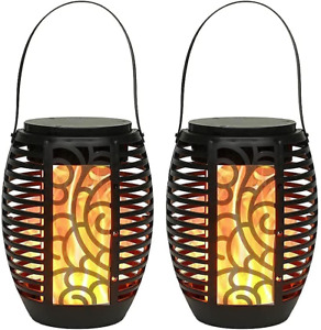 JHY DESIGN 2 Pack Lamp Battery Powered Moroccan Outdoor Lantern 16cmH...