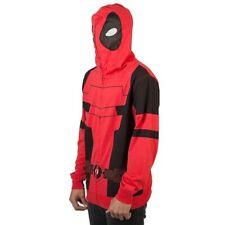 Licensed Marvel Deadpool Anti-Hero Cosplay Zip-Up Character Hoodie Adult SMALL