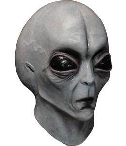 Alien Mask Horror Sci Fi Area 51 UFO ET Outer Space Creature Halloween Costume