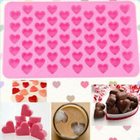 Silicone 55 Heart Cake Chocolate Baking Ice Cube Soap Jelly Baking Mould Tray