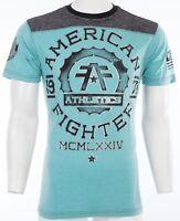 AMERICAN FIGHTER Men T-Shirt MARYLAND Athletic BLACK AQUA BLUE Biker MMA $40