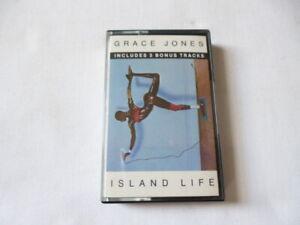 GRACE JONES ~ ISLAND LIFE INCLUDES 3 BONUS TRACKS ~ 1986 UK BLACK CASSETTE TAPE
