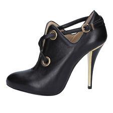 scarpe donna GIANNI MARRA 35,5 EU tronchetti nero pelle BY765-35,5