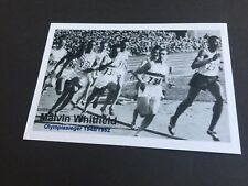 Malvin Whitfield † 2015 OLYMPIA vincitore 4×400m & 800m 1948+1952 SIGNED PHOTO 10x15