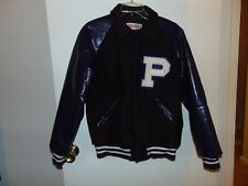 Fab Knit Letterman Purple and White Jacket Size Small Wool