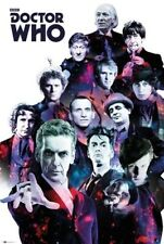 DOCTOR WHO ~ COSMIC DOCTORS CAST 1-12~ 24x36 BBC TV POSTER ~ CAPALDI!