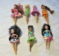 "Disney Fairies Lot ~ 7 Dressed Tinkerbell & Friends 5"" Dolls"