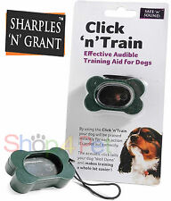 CLICK 'N' TRAIN AUDIBLE TRAINING AID FOR DOGS PUPPY CLICKER, ACOUSTIC SOUNDS