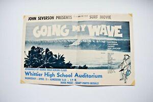 "1962 John Severson ""Going My Wave"" Surf Original Poster"