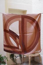 Authentic Christian Dior Silk Scarf Vintage Beige Brown