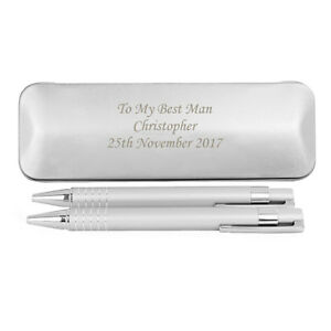 PERSONALISED PEN & PENCIL BOX TIN SET BIRTHDAY, CHRISTMAS, FATHERS DAY gift idea