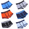 Mens Underwear Boxer Briefs Breathable Shorts Bulge Pouch Trunks Underpants