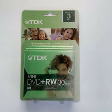 New listing Tdk 3 Pack Mini Dvd+rw 30 Minute 1.4gb Discs with Case Camcorder to Dvd New