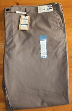 Haggar Straight Fit Plain Front Mocha Brown Pants - 54 X 32 - New