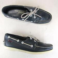Sebago Docksides Boat Loafer Deck Shoes Us 8 M Women 46754 Leather Navy