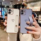 For iPhone 13 12 11 Pro Max XS XR 7 8 Plus Cute Heart Love Silicone Case Cover