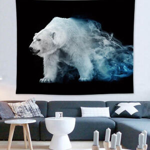 Polar Bear Animal Printed Wall Hanging Tapestry Bedroom Houseation Art Picture