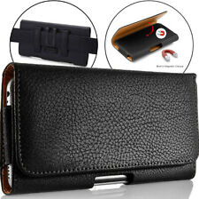 For Samsung Galaxy Note 20 5G 10 9 8 S8/S9 Plus Leather Pouch Holster Case Black