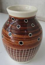 Australian pottery 1950's-1960's handmade Aboriginal motif vase