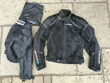 Spada Pro Air textile motorcycle jacket, mesh + thermal liner + rain coat. Used