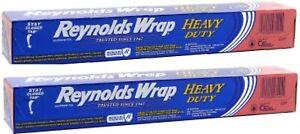 Reynolds Wrap Heavy Duty Aluminum Foil, 50 Square Feet- 2 PACK
