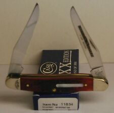 Case XX 2014 Limited Edition 30 XXX Crimson Brick Red Muskrat Knife #11634