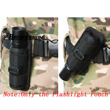 Rotatable Belt Clip Flashlight Holster Bag Pouch for Surefire FENIX UltraFire BK