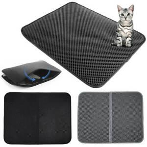 Foldable Double-Layer Kitten Cat Litter Mat Waterproof Pad Pet Rug Foam Trapper