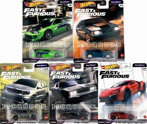 HOT WHEELS 2021 FAST & FURIOUS PREMIUM FAST STARS COMPLETE SET OF 5 CAR PRE-SALE