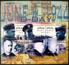 MALDIVES D-DAY STAMPS SHEET 2004 MNH WWII STAMPS BRADLEY CHAUNCEY CAMP WILKES