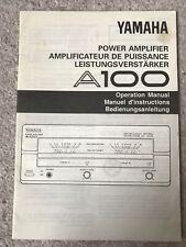 Yamaha A100 Power Amplifier Operation Manual English Français Deutsch