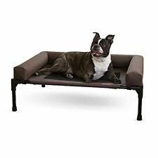 K&H Pet Products Original Bolster Pet Cot Outdoor Elevated Dog Bed with Remov...