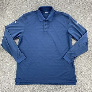 Under Armour Mens Golf Polo Long Sleeve Shirt Blue Size Large