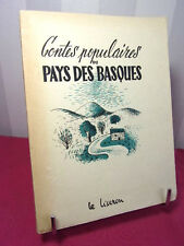 CONTES POPULAIRES DU PAYS BASQUE Pierre d'Anjou Illustrations de Rudloff