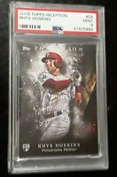 2018 Topps Inception Rhys Hoskins Rc PSA 9 - Phillies Rookie -