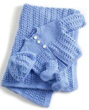 Baby Layette Matinee Set Knitting Pattern Jacket/Cardigan Blanket Hat Bootees