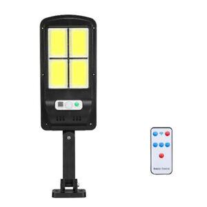 Faretto lampione con 96 led cob da esterno a pannello solare sensore movimento