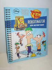 DISNEY PHINEAS AND FERB SPIRAL BOOK WIND UP ROBOT MAKER ROBOTINATOR