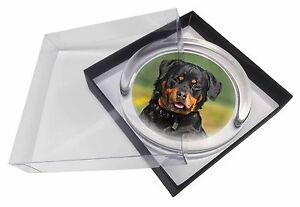 Rottweiler Dog Glass Paperweight in Gift Box Christmas Present, AD-RW6PW