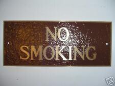 Cast Brass No Smoking Sign Business Or Restaurant