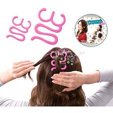 Girls Pink Twist Magic Hair Tie Braid Tool  Maker Hairpin Holder Clip Hair Style