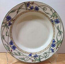 Dansk Umbrian Flowers Rimmed Soup Bowl Blue Flowers Weave Band I HAVE MORE PCS