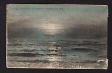 "RPPC Postcard ""moonlight on the Ocean,"" Atlantic City, New Jersey, color 1910"